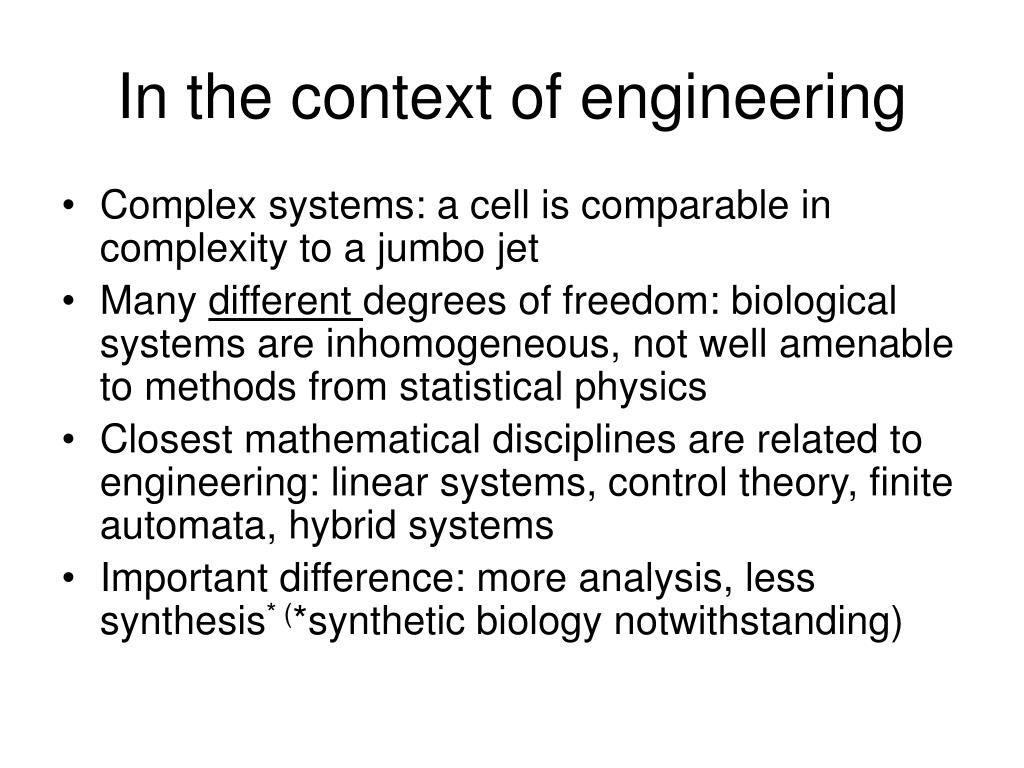 In the context of engineering