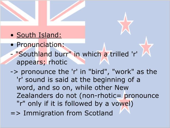 South Island: