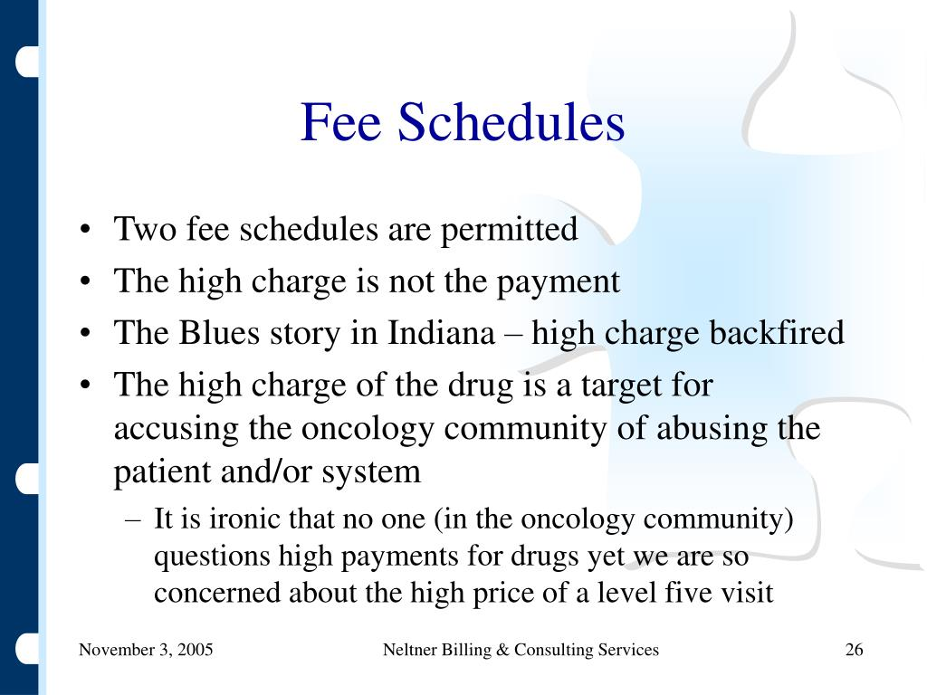 Fee Schedules