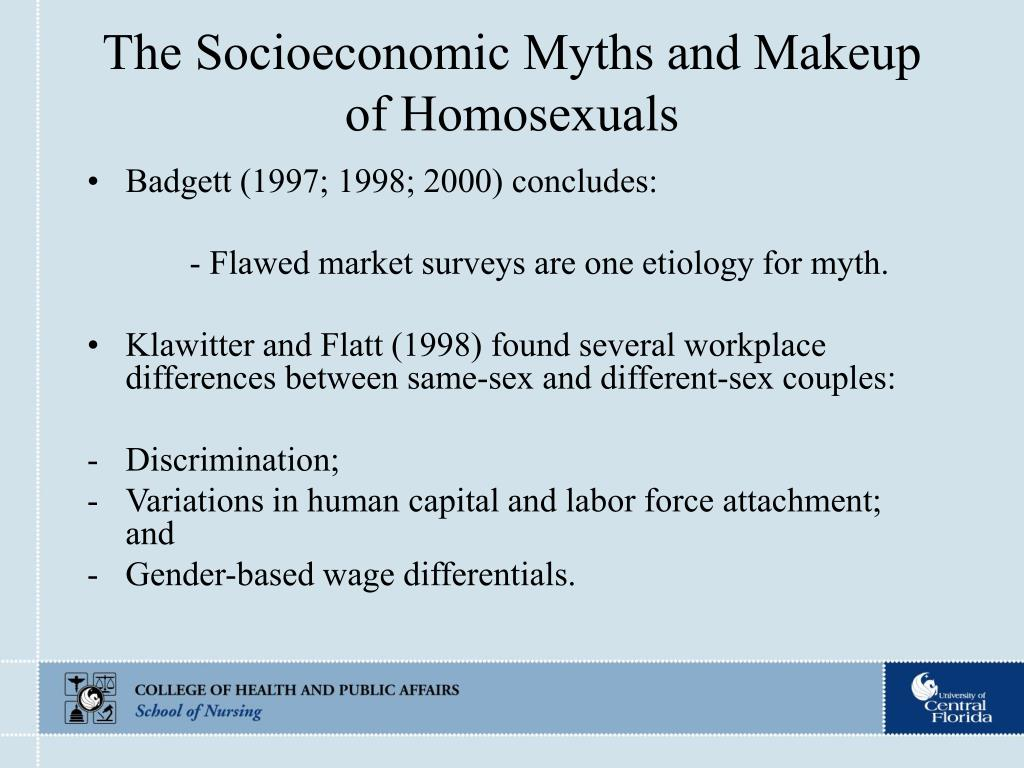The Socioeconomic Myths and Makeup of Homosexuals
