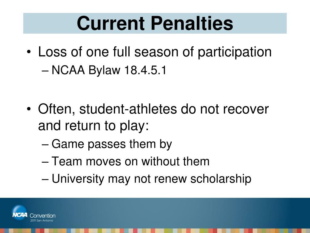 Current Penalties