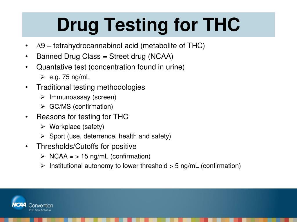 Drug Testing for THC