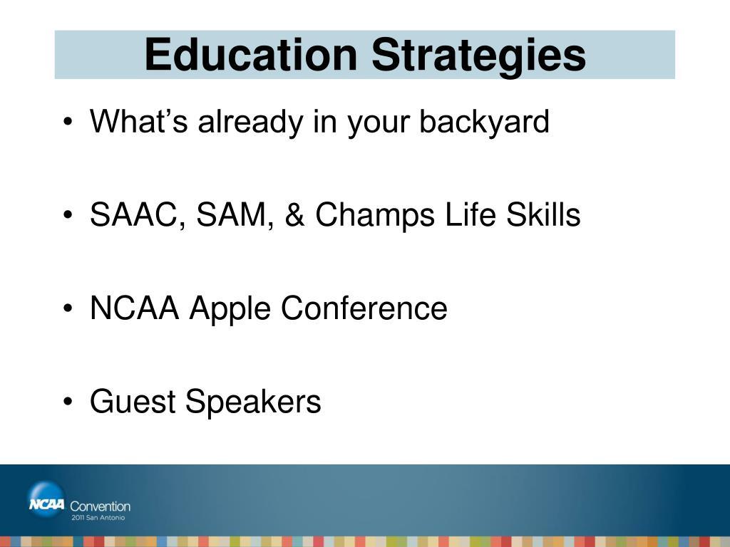Education Strategies
