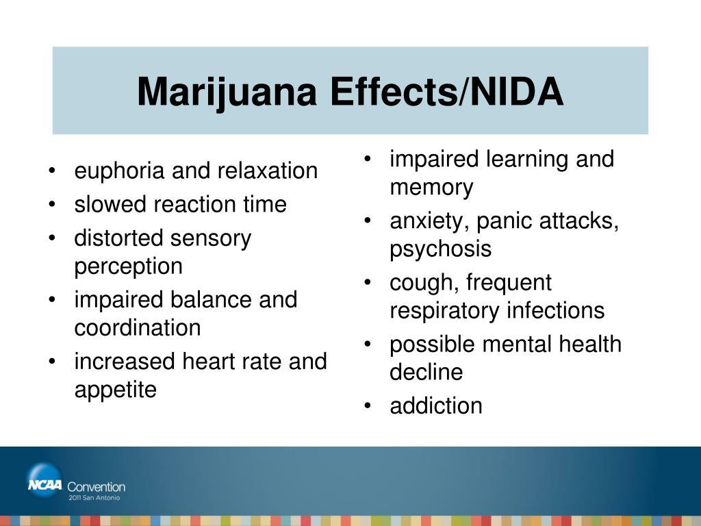 Marijuana Effects/NIDA