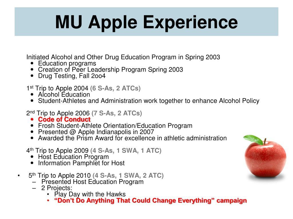 MU Apple Experience