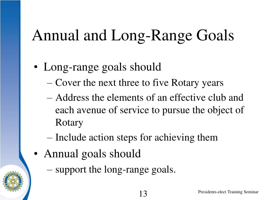 Annual and Long-Range Goals