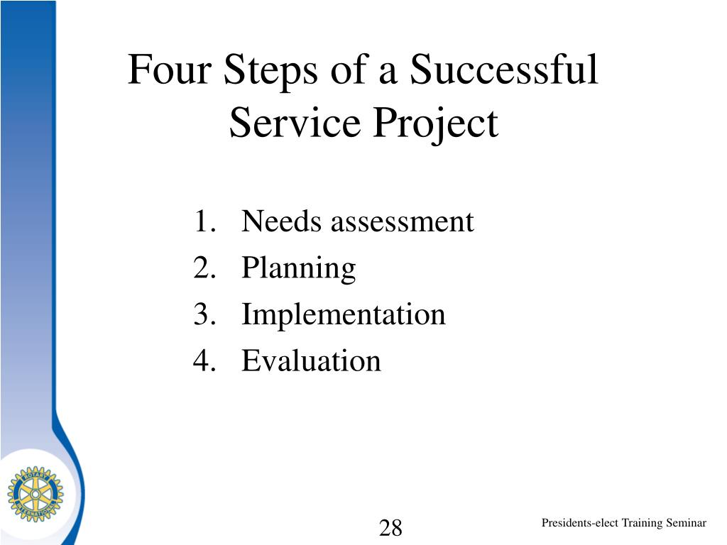 Four Steps of a Successful Service Project