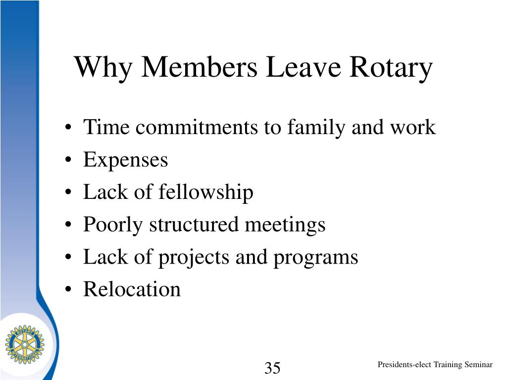 Why Members Leave Rotary