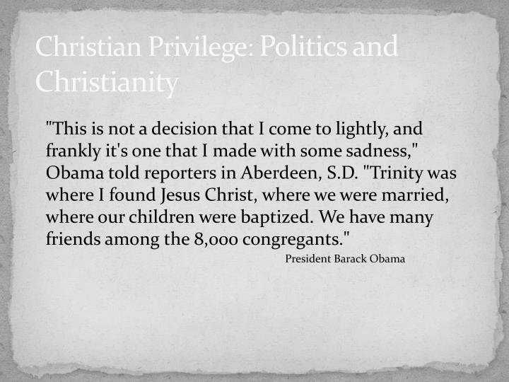 Christian Privilege