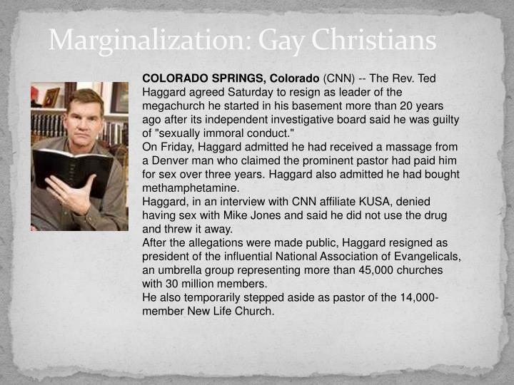 Marginalization: Gay Christians