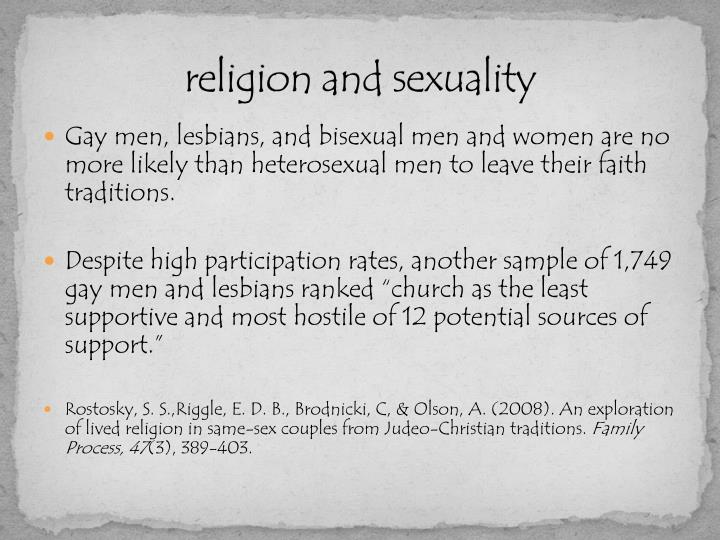 religion and sexuality