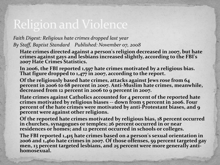 Religion and Violence