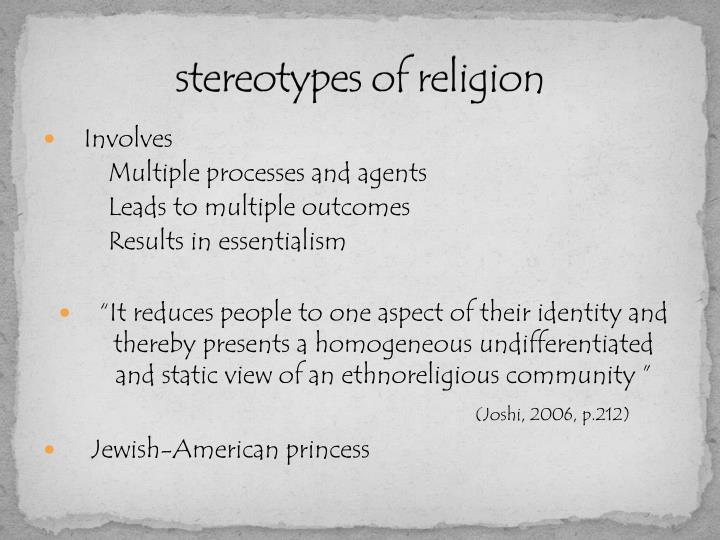 stereotypes of religion