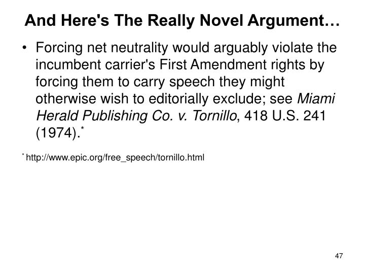 And Here's The Really Novel Argument…