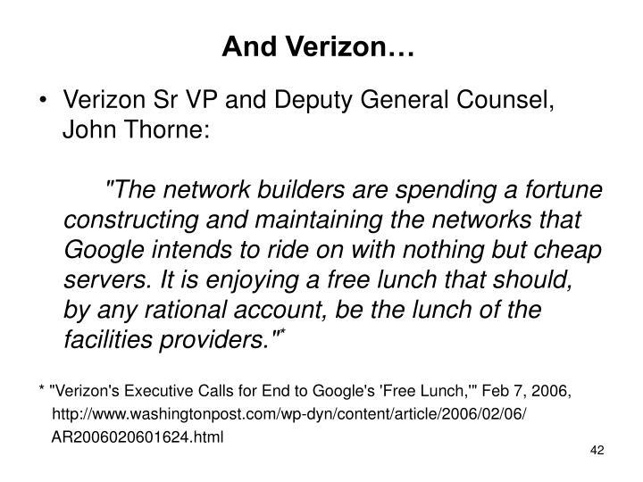 And Verizon…