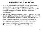 firewalls and nat boxes