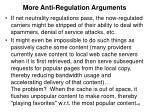 more anti regulation arguments