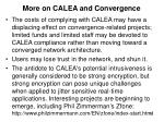 more on calea and convergence