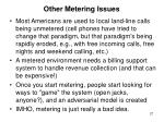 other metering issues