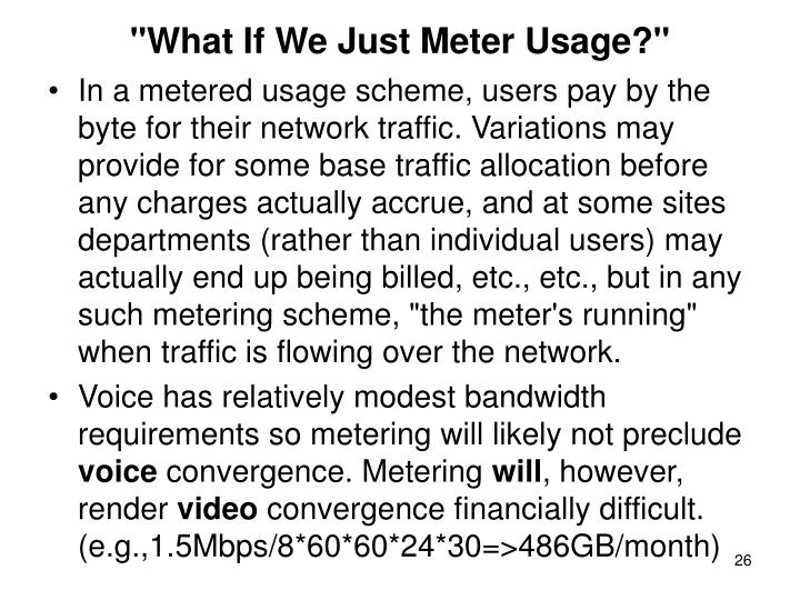 """What If We Just Meter Usage?"""
