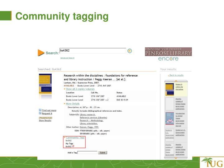Community tagging