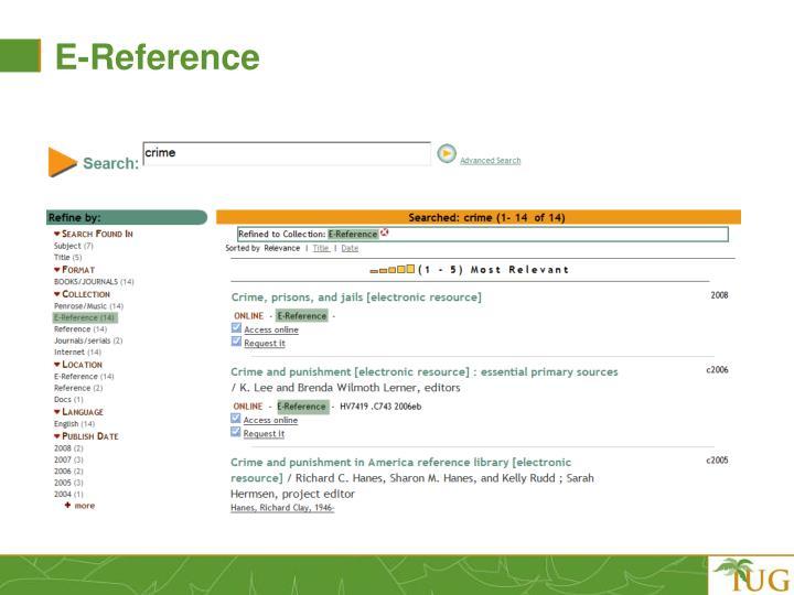 E-Reference