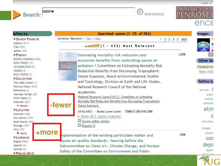 -fewer