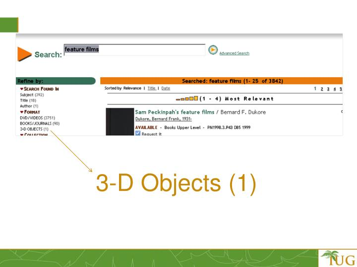 3-D Objects (1)