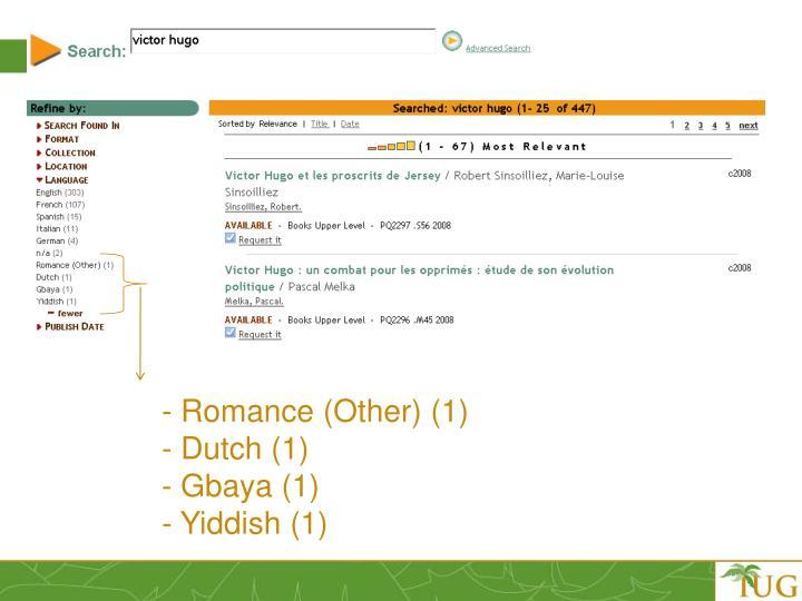 - Romance (Other) (1)