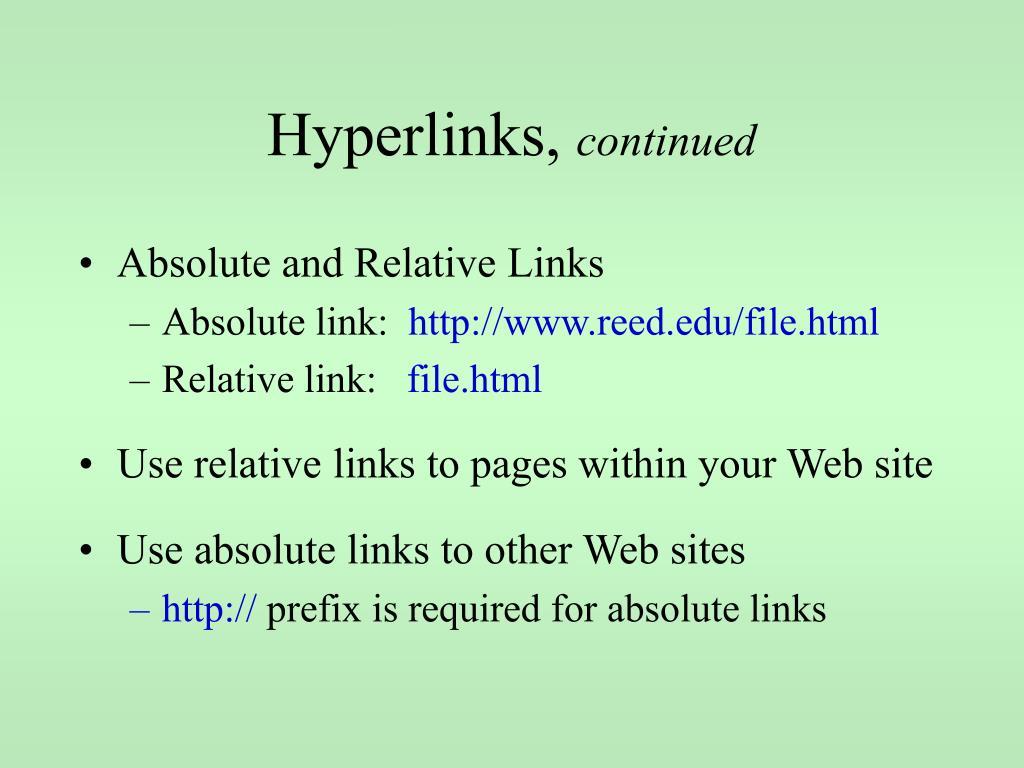 Hyperlinks,