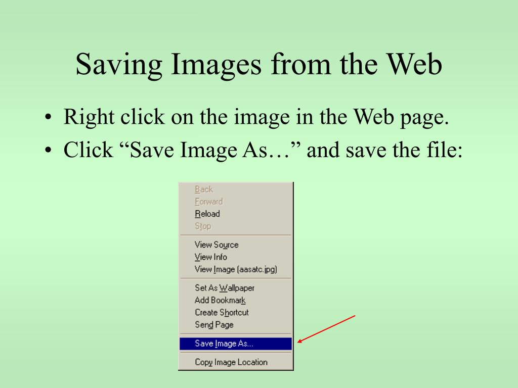 Saving Images from the Web