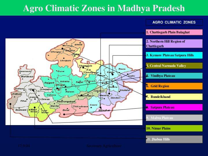 Agro Climatic Zones in Madhya Pradesh