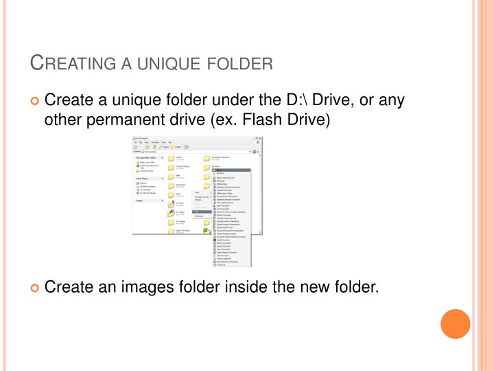 Creating a unique folder