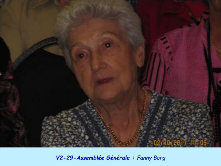 V2-29-Assemblée Générale :