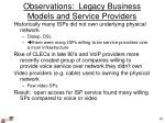 observations legacy business models and service providers