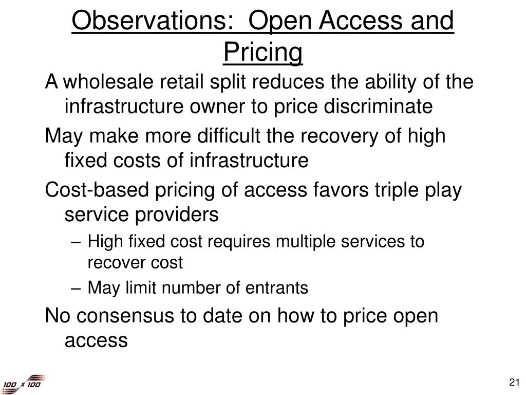 Observations:  Open Access and Pricing