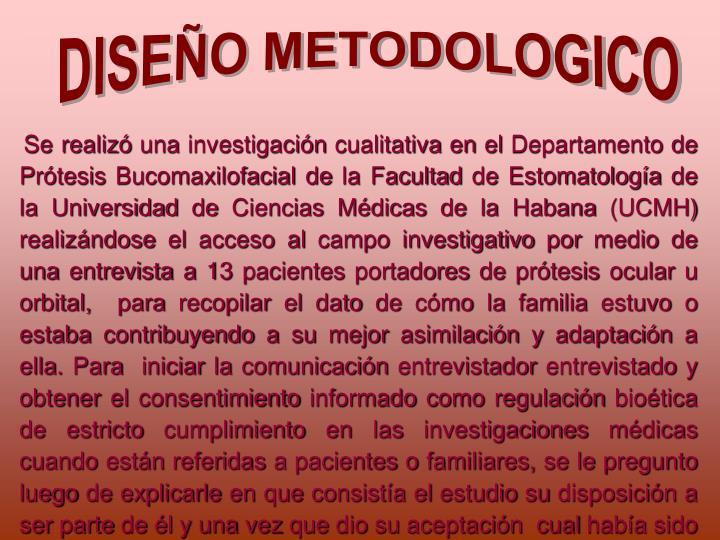 DISEO METODOLOGICO