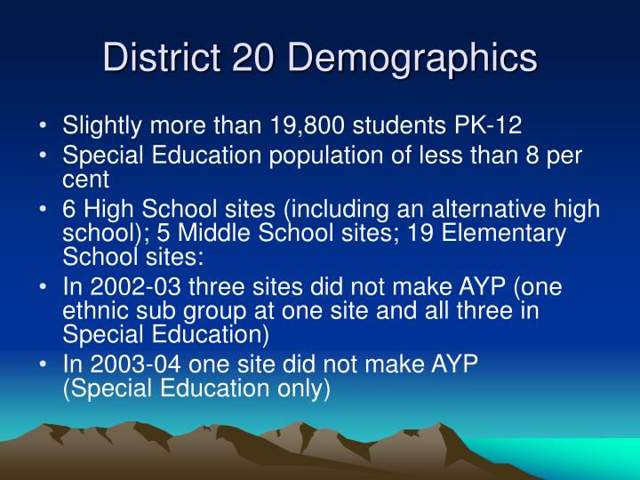District 20 Demographics