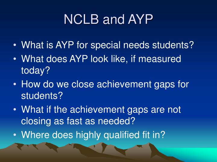 NCLB and AYP