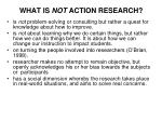 what is not action research