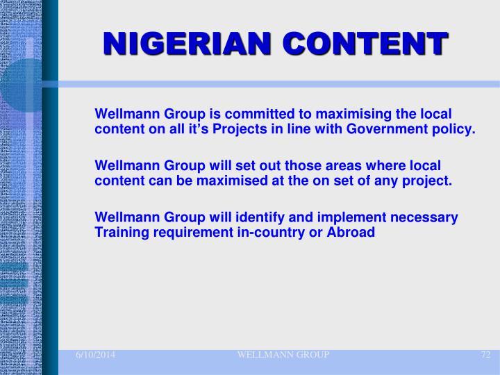 NIGERIAN CONTENT