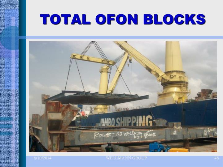 TOTAL OFON BLOCKS