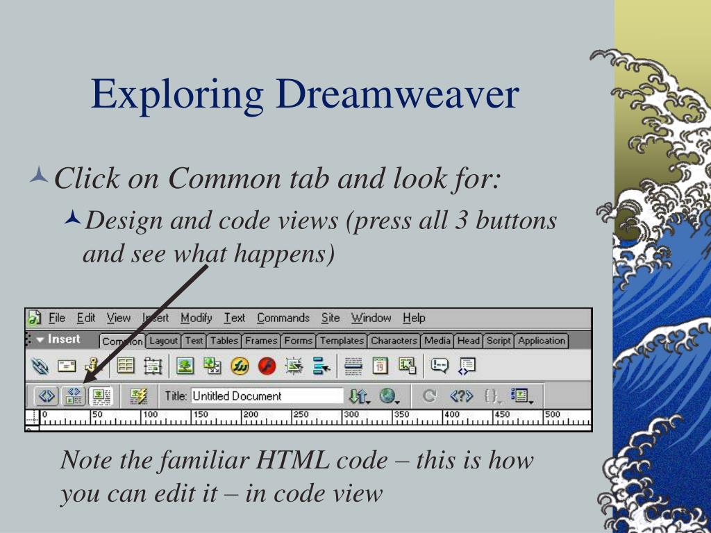 Exploring Dreamweaver