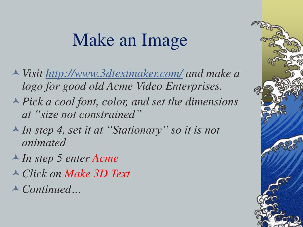 Make an Image