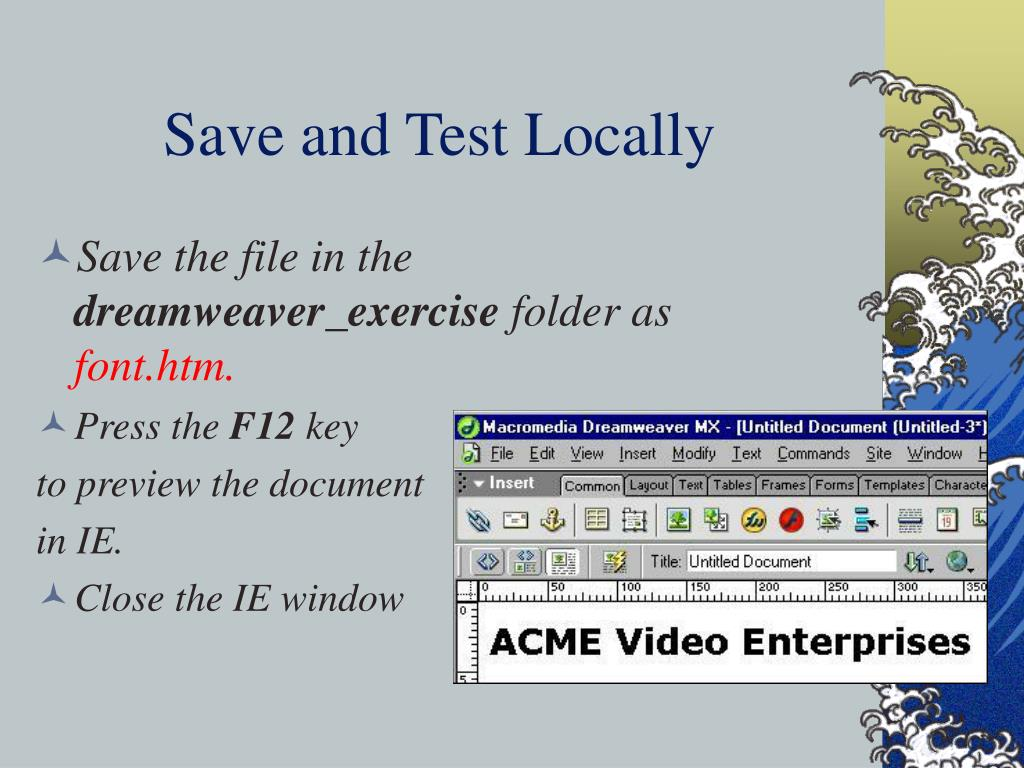 Save and Test Locally