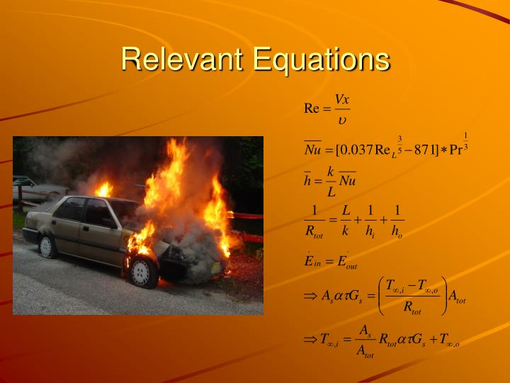 Relevant equations