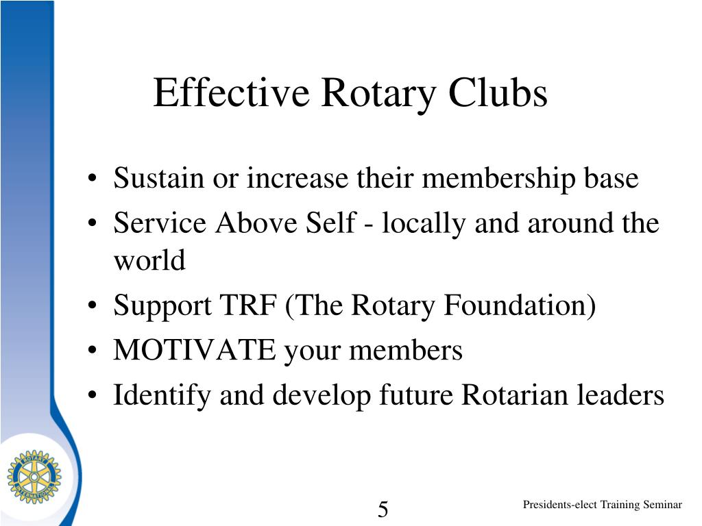 Effective Rotary Clubs