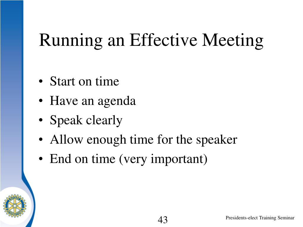 Running an Effective Meeting