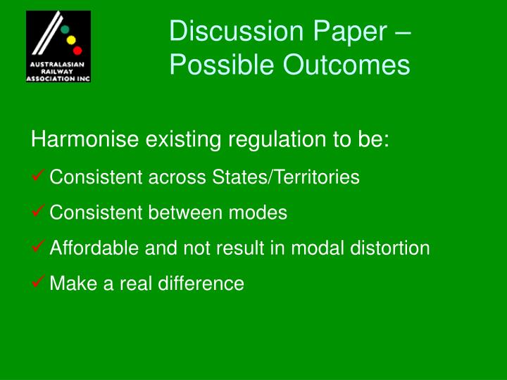 Discussion Paper –