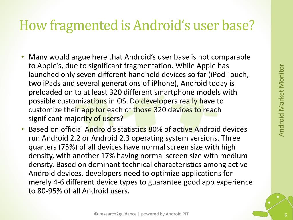 How fragmented is Android's user base?